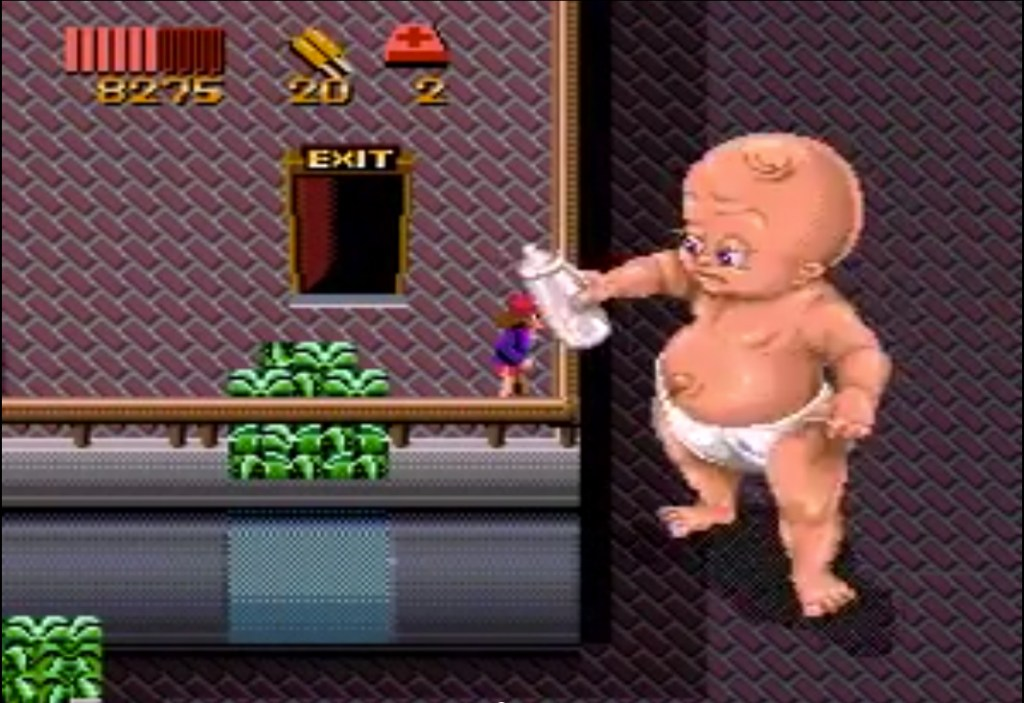 Giant Baby from Zombies Ate My Neighbors