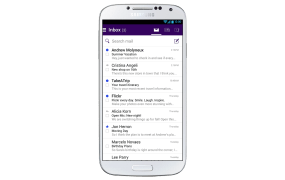 Yahoo's new Mail app for Android.