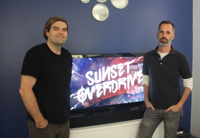 Marcus Smith and Drew Murray of Insomniac. Creators of Sunset Overdrive