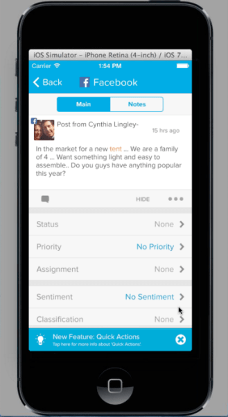 Everything in Social Studio is also available in a mobile app