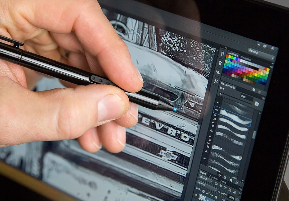 Sketching in Photoshop CC using a Surface Pro 2.