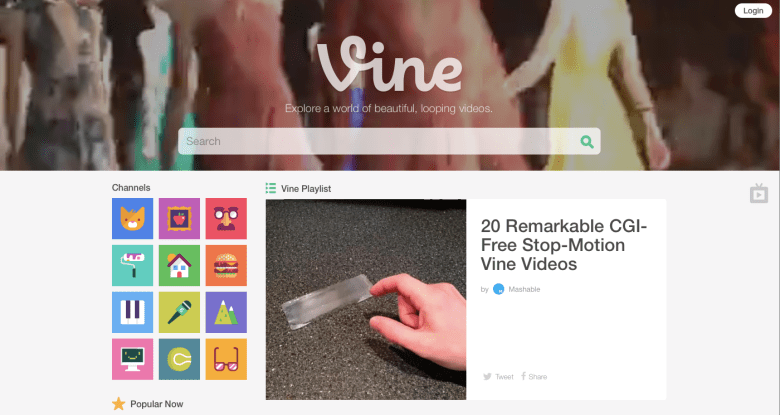 Vine new website layout