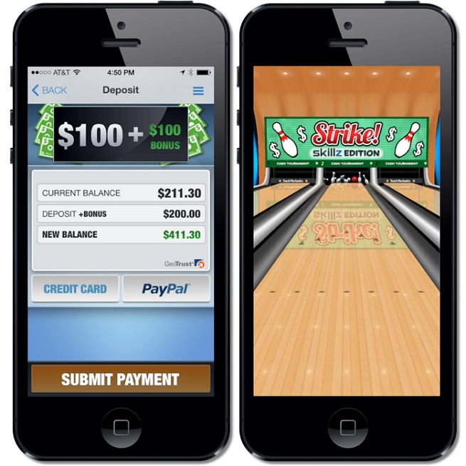 Skillz lets you play games for cash prizes.