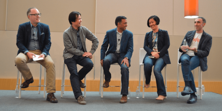 Target.com SVP Jason Goldberger with Liew, Agarwal, Chang, and Yagan