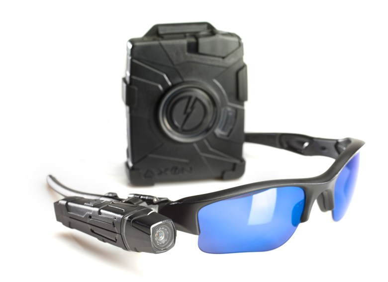 Taser AXON Body and Flex cameras, with sunglasses