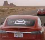 Two Tesla Model S cars on a cross-country rally drive.