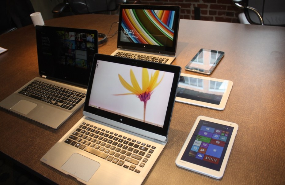 Toshiba's back-to-school laptops and tablets for summer 2014.