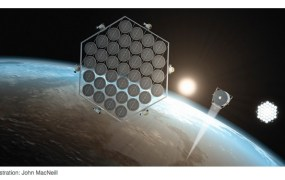 Space-based solar energy farm