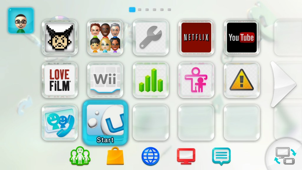 It looks out like the Wii menu.