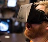 A man enjoying himself with Oculus Rift.