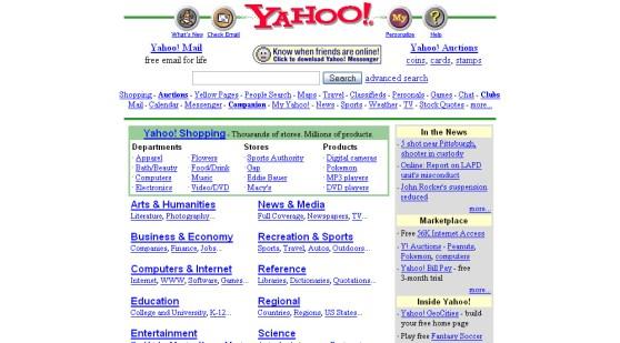 yahoo classic homepage