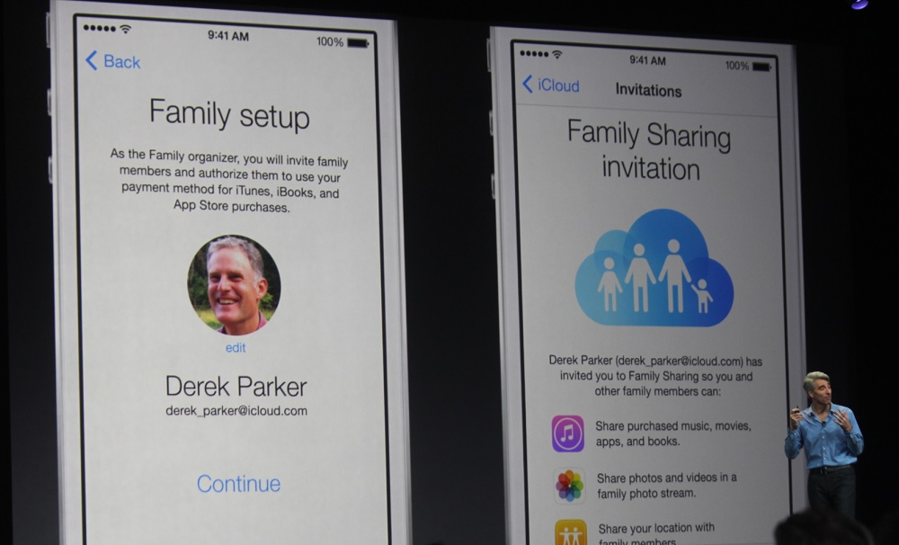 Apple's iOS Family Sharing