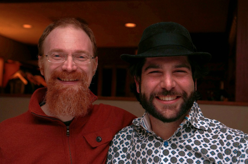 Spry Fox cofounders Daniel Cook and David Edery.
