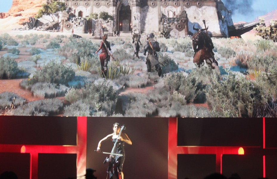 EA opened its Dragon Age: Inquisition briefing at E3 with a cellist Irina Chirkova.