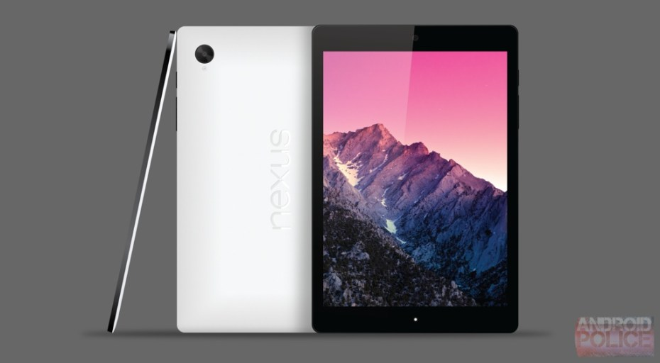 A mockup of HTC's Nexus 9 tablet based on leaked images.