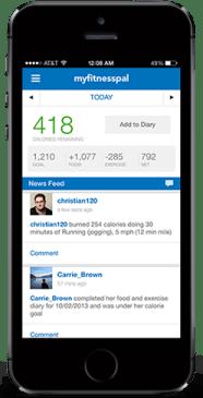 MyFitnessPal app.
