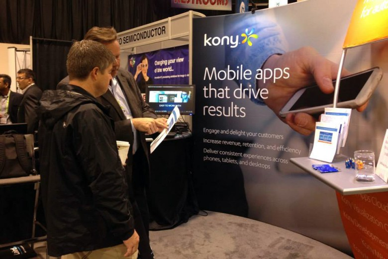 The Kony booth at the Telematics Detroit 2014 conference.