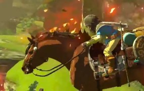 Link and Epona -- The Legend of Zelda Wii U