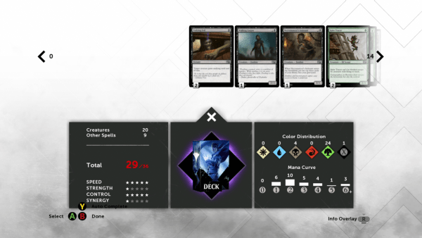 Magic 2015 can find automatically find you cards that play well together.