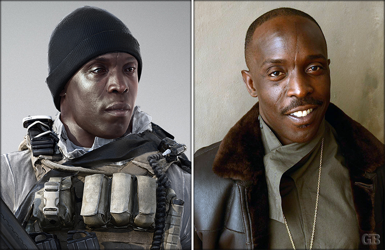 "Michael K. Williams as Kimble ""Irish"" Graves"