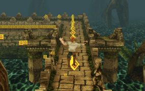 Temple Run in action for mobile.