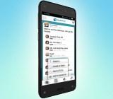 The Squarehub app on Amazon's Fire Phone.