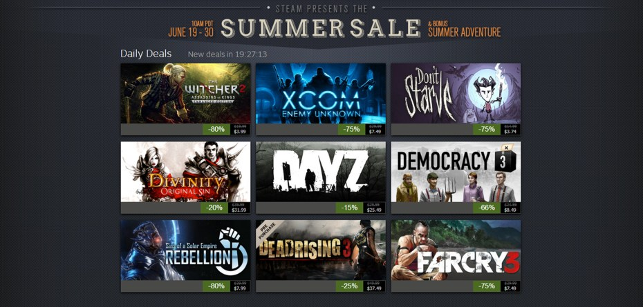 The Steam summer sale attracted millions of gamers.