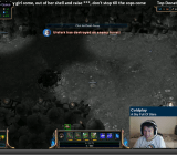 A Twitch broadcaster talks to his fans while playing League of Legends.