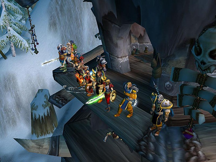 Warcraft players surveying the battlefield.
