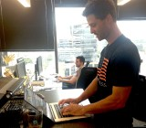 Mark Kelnar, one of the lead engineers for WP Engine's Development Labs, working in the company's Austin office.