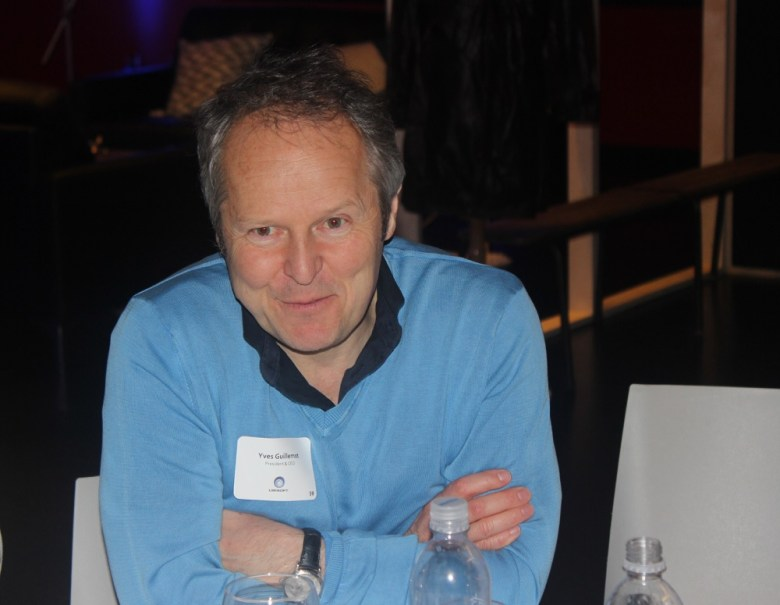 Yves Guillemot, CEO of Ubisoft, at E3 2014.