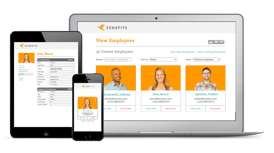 Zenefits screenshots