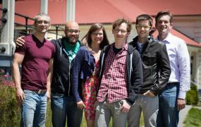 The first six members of the Keen IO team
