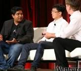 Bhaskar Sunkara (AppDynamics), Rob Kwok (Crittercism), and Mark Sullivan (VentureBeat)