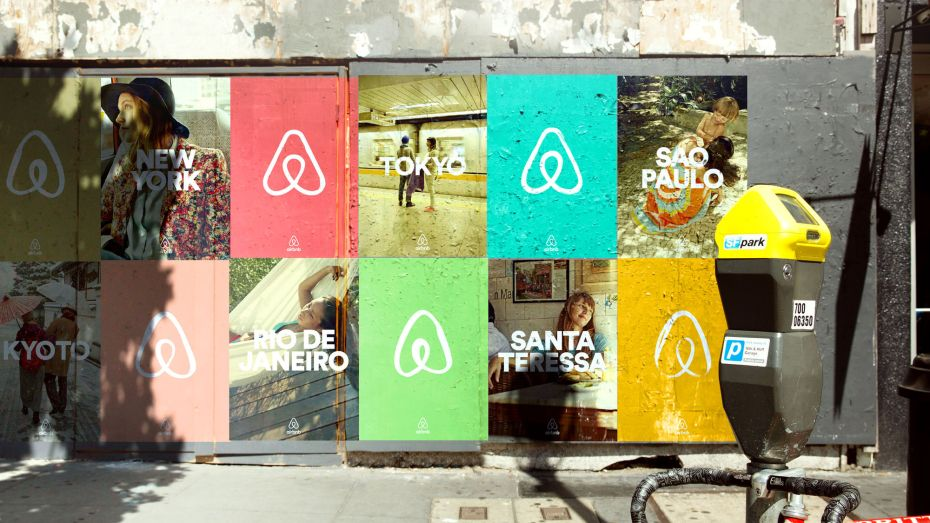 Airbnb promo graphic for its redesigned logo