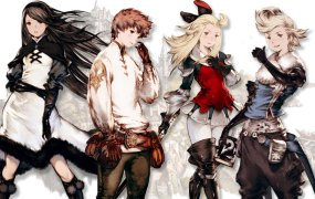 The characters from Bravely Default.