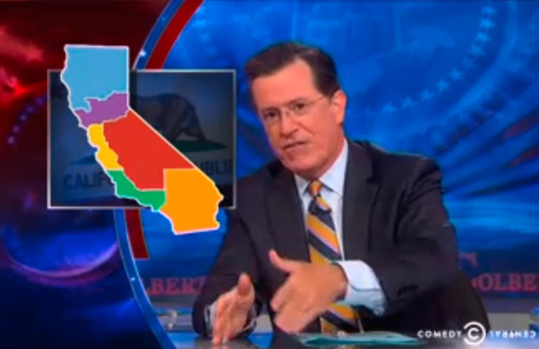Colbert Report on Six Californias