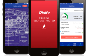 With Digify, messages can be deleted after your recipients read them.