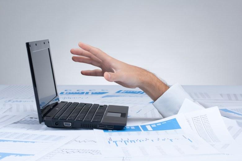 Drowning information laptop Jirsak Shutterstock