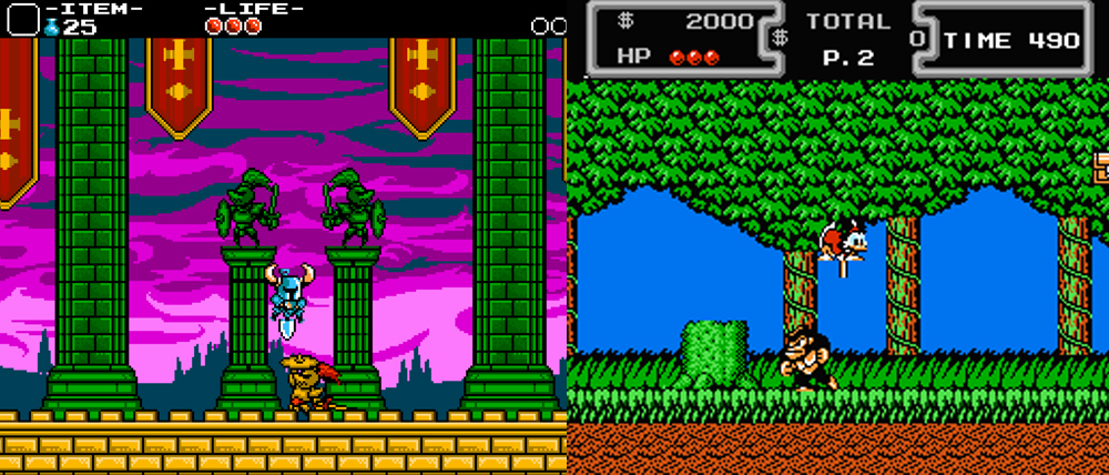Shovel Knight vs. Ducktales.