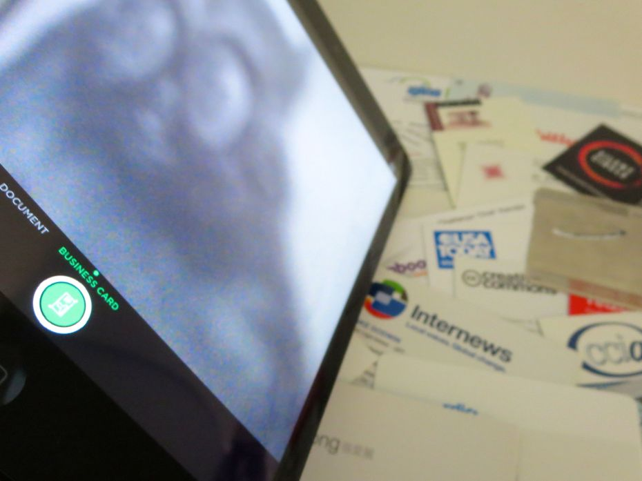 Evernote card-scanning