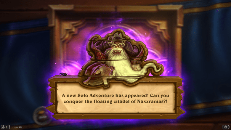 You can hop into Hearthstone and buy Curse of Naxxramas right now.