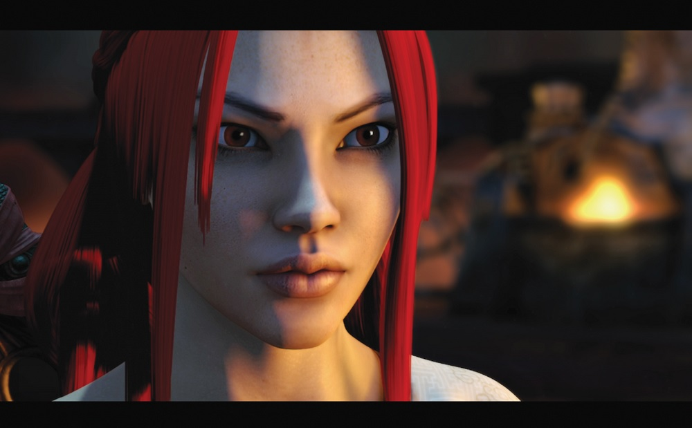 Heavenly Sword's Nariko, played by Anna Torv