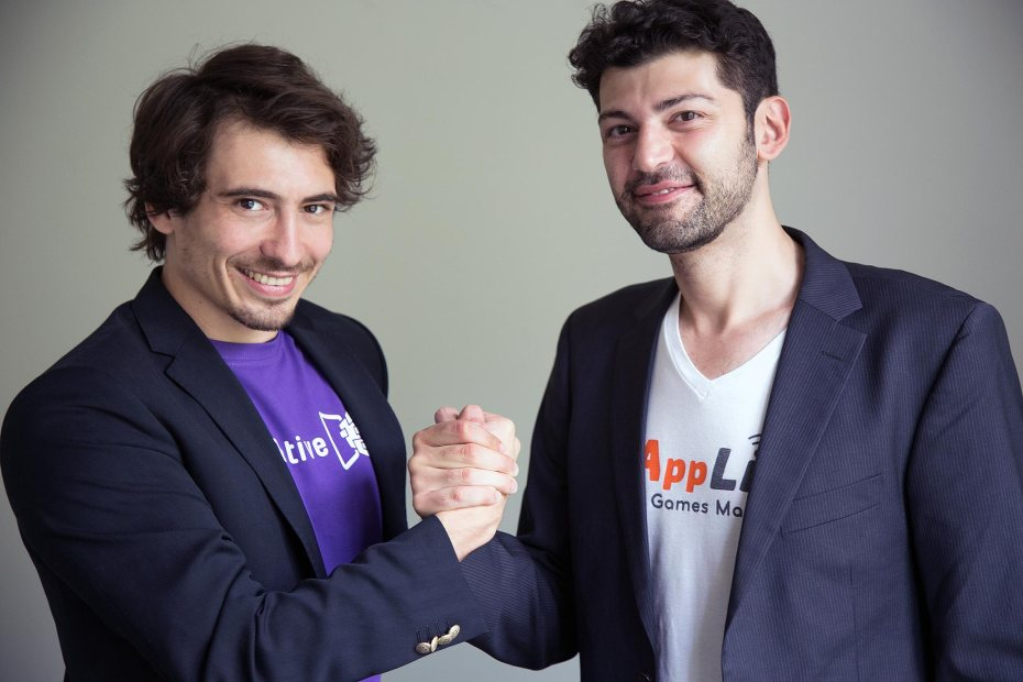 PubNative cofounder Ionut Ciobotaru (left) and AppLift CEO Kaya Taner.