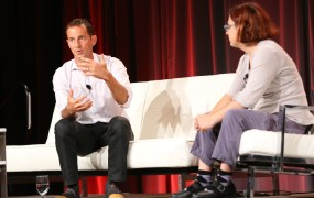 Google's head of performance media Jason Spero with Re/code writer Ina Fried at MobileBeat 2014.