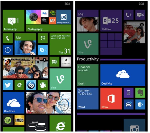 Windows Phone Live folders