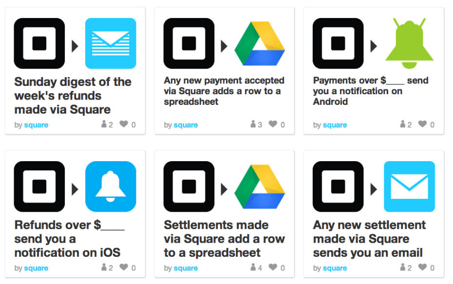 Square-IFTTT-channel-recipes