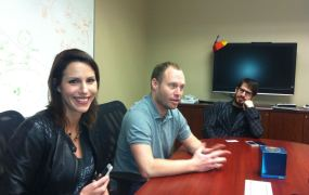 Yo publicist Ayelet Noff with Yo founders Or Arbel and Moshe Hogeg (left to right).