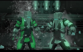 The bad guys from Warframe doing the ALS ice-bucket challenge.