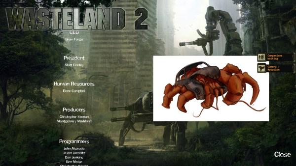 Wasteland 2 credits